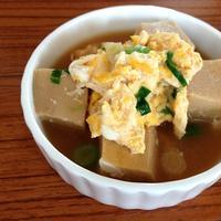 余った高野豆腐の煮物で♪たまごとじ