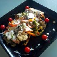 ルクエdeサーモン&夏野菜!onカスピ海ヨーグルトソース【ルクエ×カスピ海】