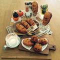 ハロウィン☆フランクフルト&カボチャとオバケのケーキ