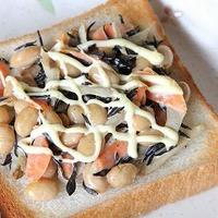 蒸し豆入りひじきの和風食パン