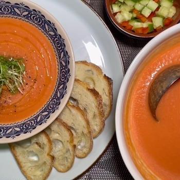 #105 夏にぴったり!冷たいガスパチョ「野菜たっぷり食べるスープ」