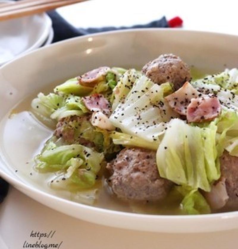 身体の芯から温まる!「白菜+肉団子」のスープレシピ