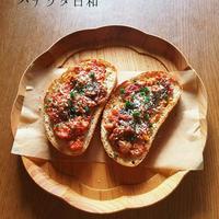 トマトソースのトースト