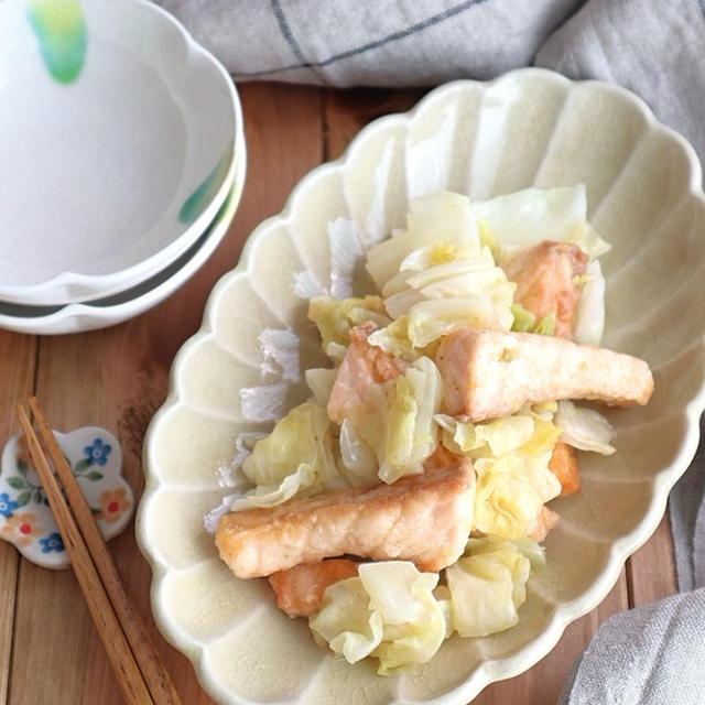 ごはんがすすむ☆鮭とキャベツのゆずこしょう炒め