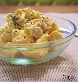 【簡単カフェサラダ】デリ風~♪ツナのカレーポテトサラダ♪
