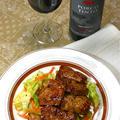 肉の旨みを味わうワイン「ポルコ ティント」と甘辛でスパイシーな豚ロースのペッパー焼き。