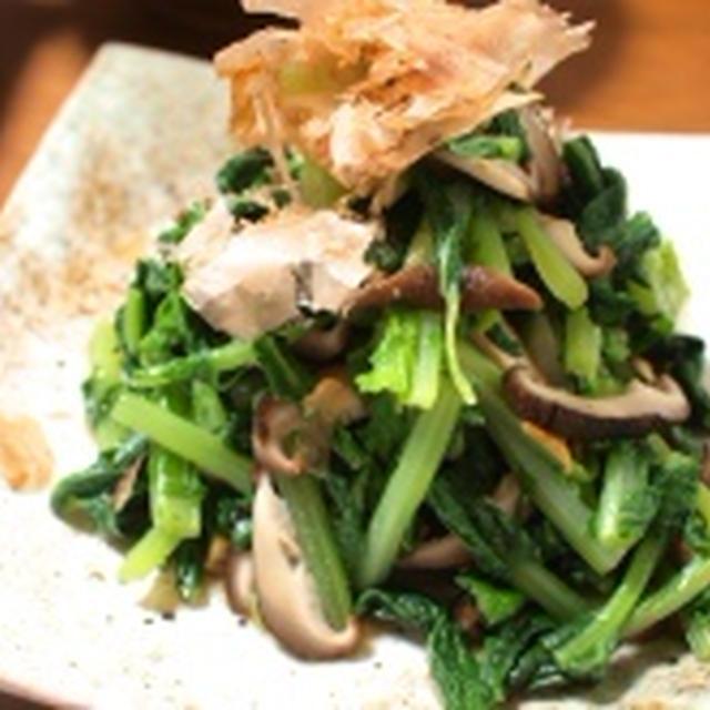 おひたし2種〜小松菜と椎茸のお浸し & 海苔風味のほうれん草お浸し