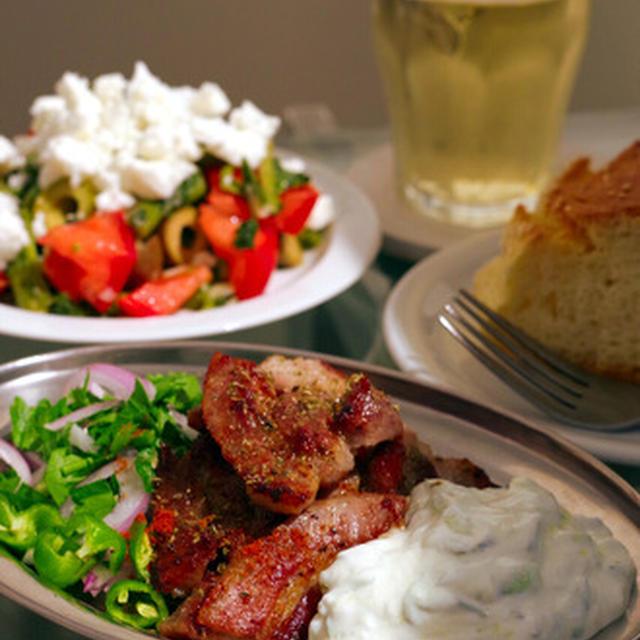 週末はギリシャ焼肉