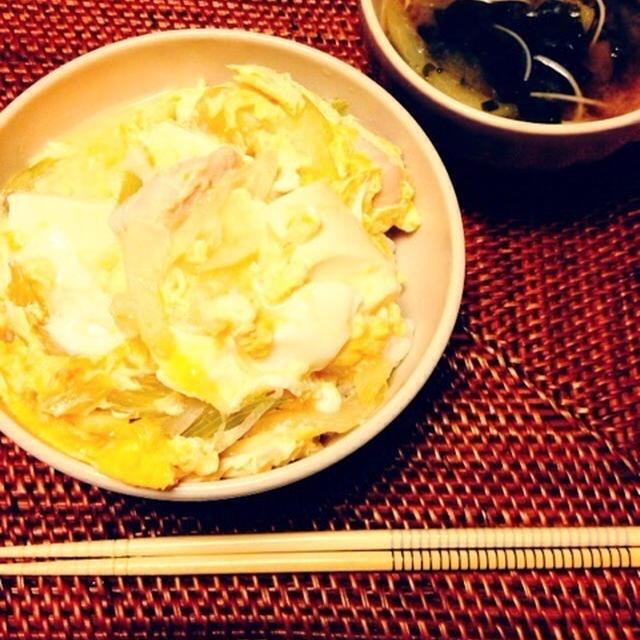 塩鶏とセロリの親子丼 柚子胡椒風味