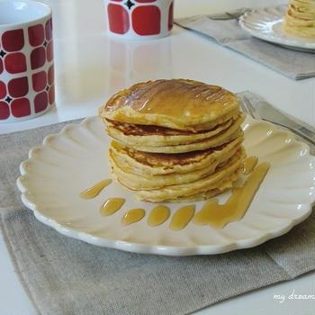 パンケーキで朝ごはん