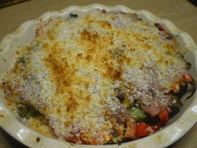 豚バラ肉と夏野菜のミルフィーユ