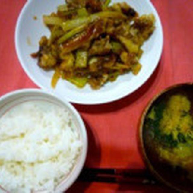 セロリと牛肉の炒め物