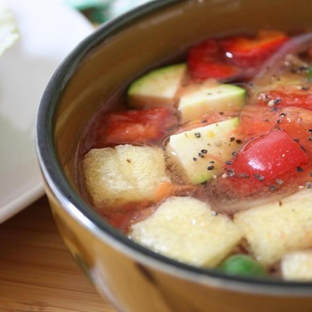 和風でさっぱり夏野菜スープ