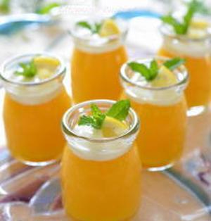 レモンで爽やか♪レモン&マンゴーぷるぷるプリン♪