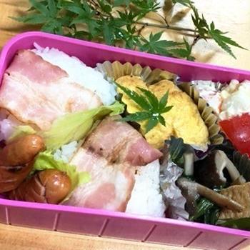 【今日のお弁当】葉物野菜が安い季節です