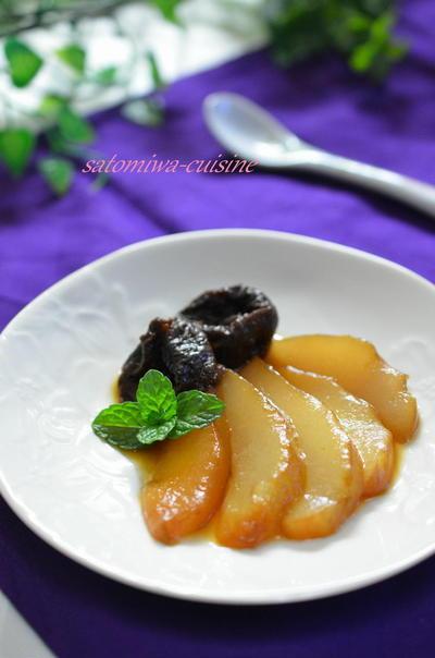 お砂糖要らず♪ 簡単デザート♡洋梨とプルーンの紅茶煮♡