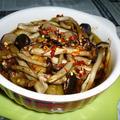 柳松茸のアヒージョ