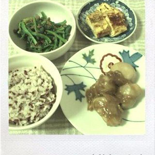 里芋の煮物で健康ごはん