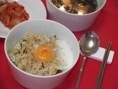 韓国風★しらす&高菜の混ぜご飯