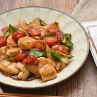 糀パウダーで柔らか!鶏むね肉と彩り野菜のオイスター酢豚|ユニロイフライパン