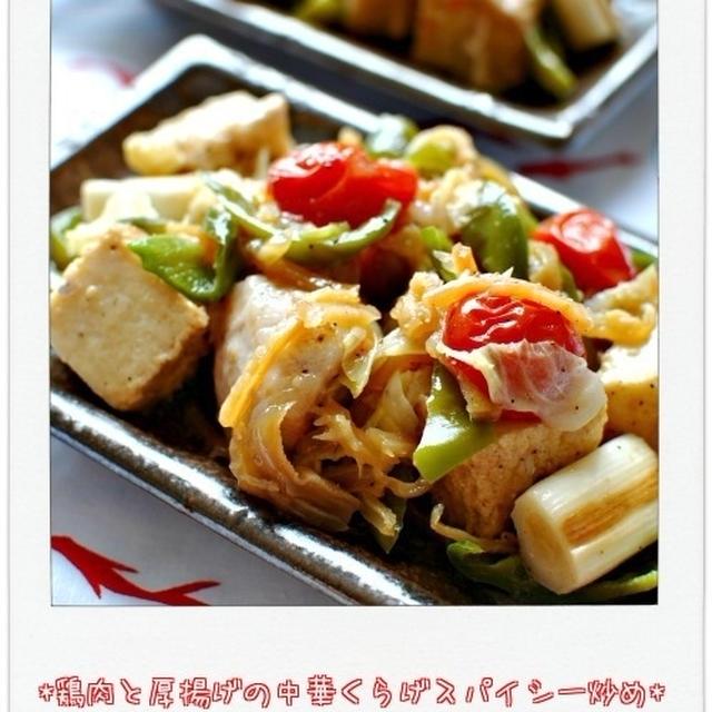 ☆鶏肉と厚揚げの中華くらげスパイシー炒め / 25日の朝ごはん☆
