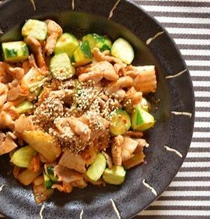 夏のスタミナ料理!「きゅうりと豚キムチの炒めもの」
