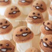 【作り方も】お菓子のなめこが大繁殖!?(キャラスイーツ)