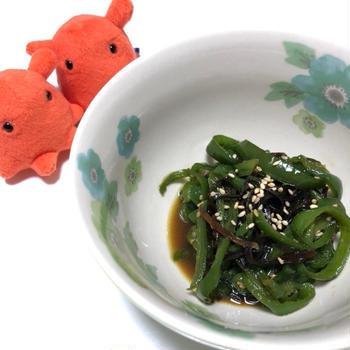 ピーマンと塩昆布の和え物・電子レンジで簡単副菜レシピ/やる気★★
