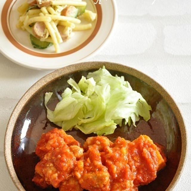 バイキングさんで坂上忍さんと再びクッキング★豆腐でかさまし!チキンのトマトソース煮。