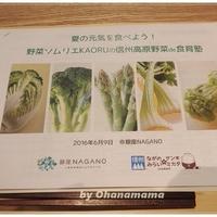 野菜嫌いのお子さんママ必見!『野菜ソムリエKAORUの信州高原野菜de食育塾』のイベントレポート