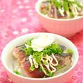 鰹のたたきで 丼風 プチちらし寿司&鰹のたたき せんべい ☆ by 四万十みやちゃんさん