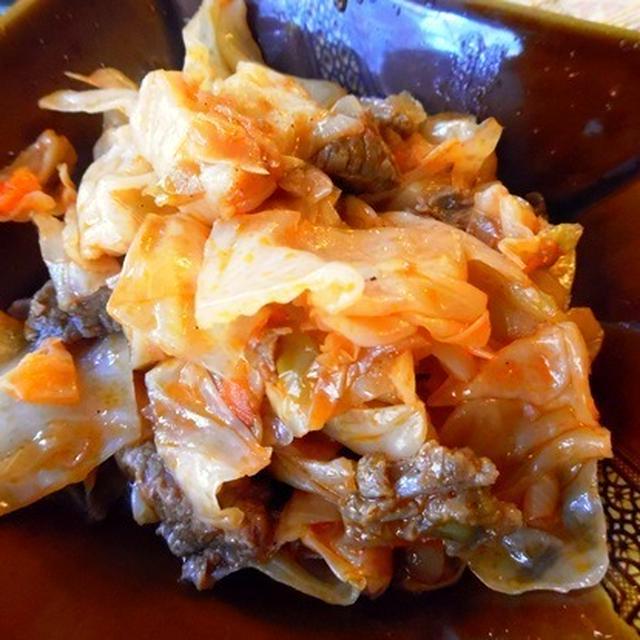 トルコ風キャベツの煮込み(カプスカ)。