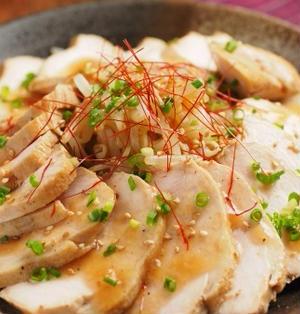 炊飯器作る鶏むね肉の焼豚風 、 しっとり鶏むね肉料理