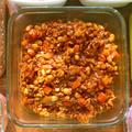 大豆と鶏挽肉のドライカレー