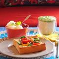 冷凍野菜をのっけた簡単トースト