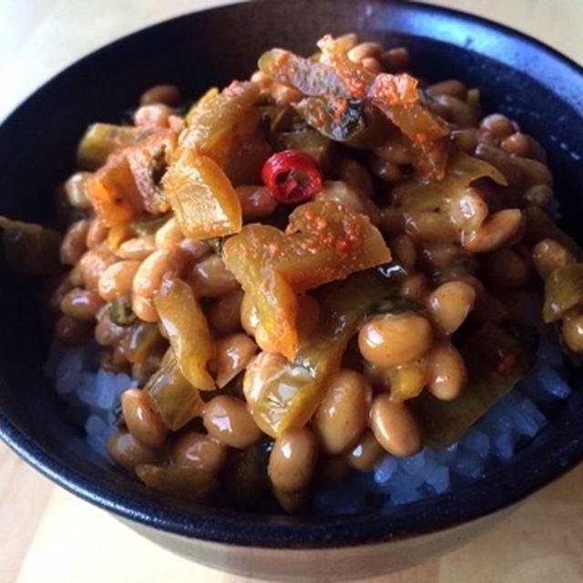 高菜納豆ご飯