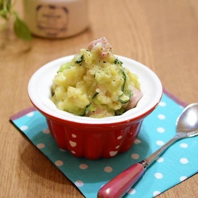 亜麻仁油と塩麹のポテトサラダ