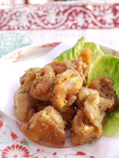 <GABAN花椒とあらびきブラックペッパーで 中華風鶏のからあげ>