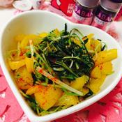 豆苗と水菜のエスニック炒め