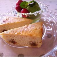 おからチーズケーキ砂糖不使用☆卵1個でパウンド型1台分