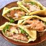 怒涛の肉野菜サンド。ぱりっと濃旨油揚げせせりケバブ(糖質7.4g)