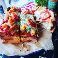 楽しかった~❤️と、がっつり満腹ボリューム満点♪わんぱくピザトースト♪