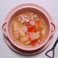 アジアン風味の具だくさんスープ♪ #香りソルト #アジアンミックス #ハウス食品 #スープ