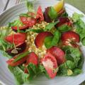コーンとプラムとフルーツトマトのサラダ