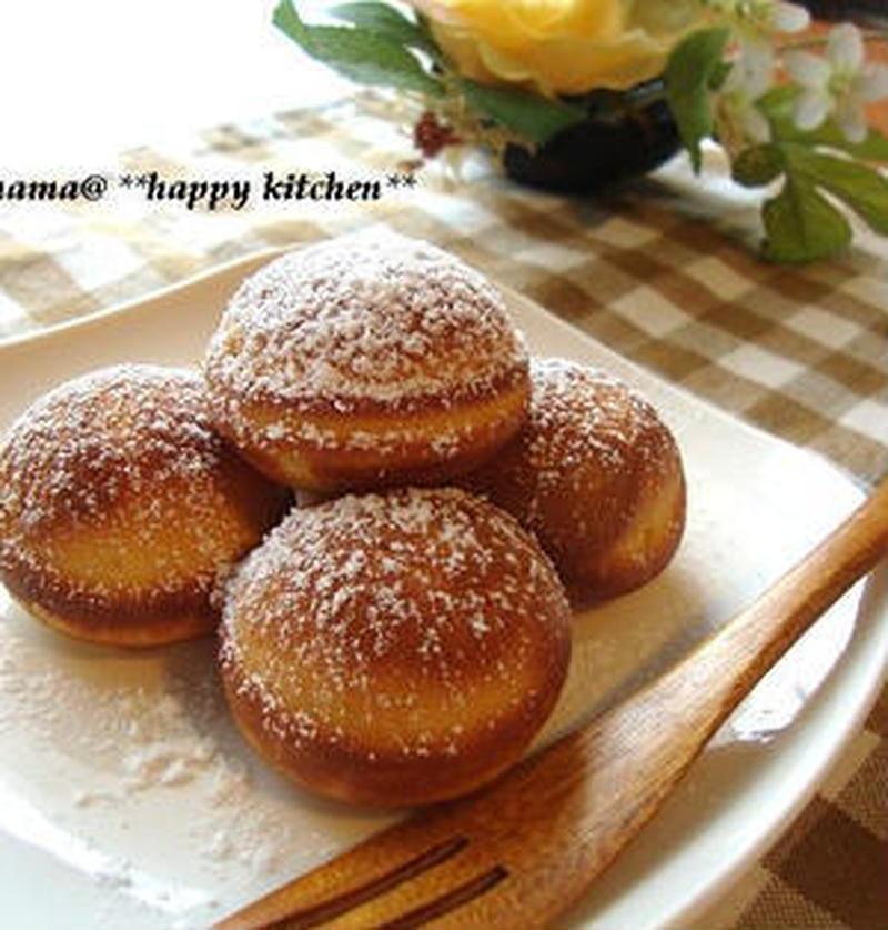 混ぜて焼くだけ♪ホットケーキミックスで簡単「焼きドーナツ」