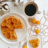 金柑とごまの和タルト*参考レシピあり