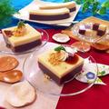 ヘルシー2層!あずきと豆乳の寒天ケーキ!
