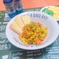 魚と夏野菜のやみつきカレー炒め