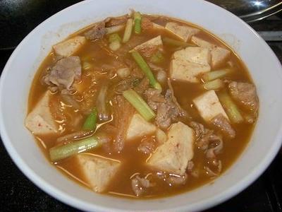◎[料理]豚肉と豆腐のキムチ煮込み