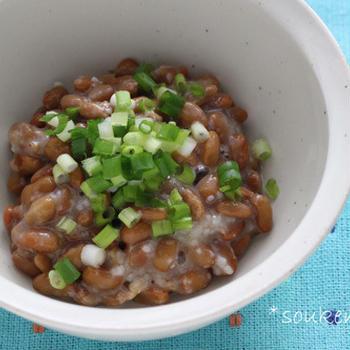 《妊活時短レシピ》若さを保つ!塩麹納豆